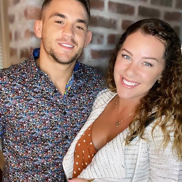Dustin-Poirier-with-his-wife