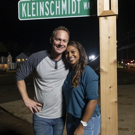 Mika-Kleinschmidt-with-her-husband