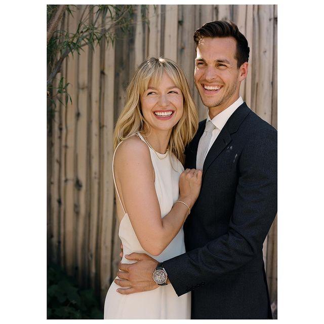 Melissa-Benoist-with-her-husband