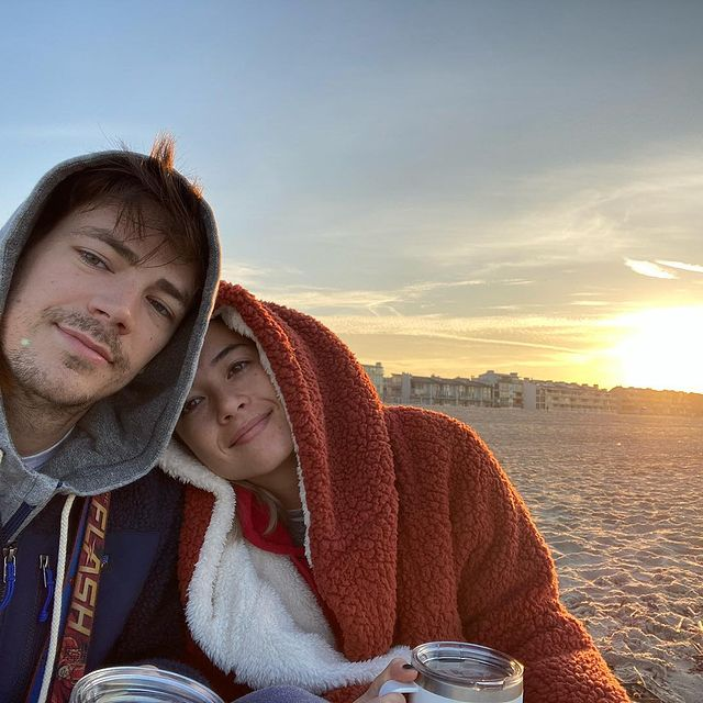 Grant-Gustin-with-his-wife